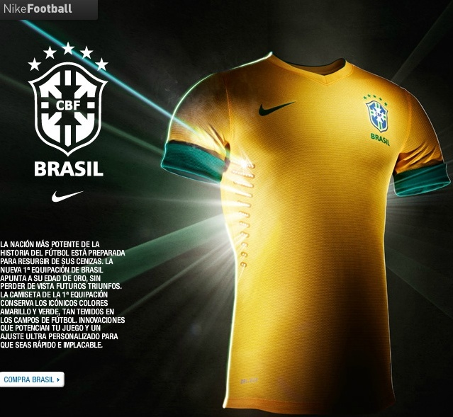 camiseta de selección de brasil