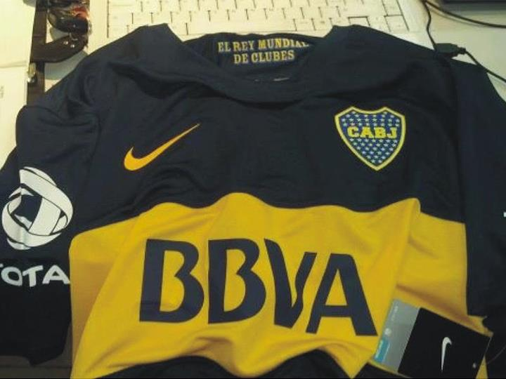 camiseta del boca juniors